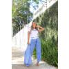 Calça Jeans Atacado Cropped Feminina Revanche Nádia Azul Look