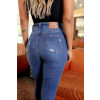Calça Jeans Atacado Fit Belt Feminina Revanche Beatrice Azul Costas