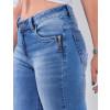 Calça Jeans Atacado Cigarrete Feminina Revanche Burúndi Azul Detalhe
