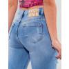 Calça Jeans Atacado Cigarrete Feminina Revanche Eritreia Azul Detalhe Costas