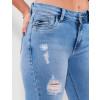 Calça Jeans Atacado Cigarrete Feminina Revanche Eritreia Azul Detalhe Lado