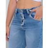 Calça Jeans Atacado Cigarrete Feminina Revanche Estella Azul Detalhe