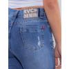 Calça Jeans Atacado Cigarrete Feminina Revanche Maputo Azul Detalhe