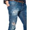 Calça Jeans Atacado Frente Tradicional Masculina Revanche Chicago Detalhe