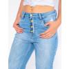 Calças Mom Jeans Atacado Cigarrete Barra Detonada Feminina Revanche Las Vegas Detalhe