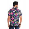 Camisa Atacado Florida Manga Curta Masculina Revanche Havai II Azul Marinho Costas