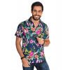 Camisa Atacado Florida Manga Curta Masculina Revanche Havai II Azul Marinho Frente
