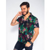 Camisa Atacado Estampada Masculina Revanche Madrid II Lateral