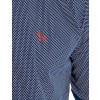 Camisa Atacado Manga Longa com Micro Estampa Masculino Revanche Bolonha Azul Marinho Detalhe