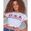 Camiseta Atacado Com Estampa Feminina Revanche Letónia Branco Detalhe Frente