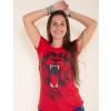 Camiseta Atacado Estampa Feminina Revanche Savage Vermelho Detalhe