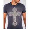 Camiseta Atacado Estampa Silk Masculina Revanche Cross Cinza Frente