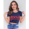 Camiseta Atacado Feminina Revanche Dominica Azul Marinho Frente