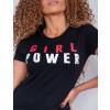 Camiseta Atacado Girl Power Feminina Revanche Therese Preto Detalhe Frente