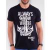 Camiseta Atacado Masculina Revanche Always Preto Detalhe