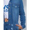 Jaqueta Jeans Atacado Max Feminina Revanche Jessamina Azul Detalhe
