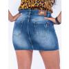 Saia Jeans Atacado Botão Aparente Revanche Managua Azul Costas