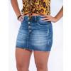 Saia Jeans Atacado Botão Aparente Revanche Managua Azul Zoom