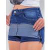 Saia Shorts Jeans Atacado Feminino Revanche Bósnia Azul Detalhe