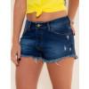 Shorts Jeans Atacado Barra Desfiada Feminino Revanche Acra Frente
