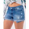 Shorts Jeans Atacado Bolso Zíper Feminino Revanche Beirute Frente