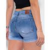 Shorts Jeans Atacado Boyfriend Feminino Revanche Elisabeth Azul Detalhe Costas