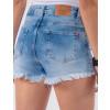 Shorts Jeans Atacado com Laço Feminino Revanche Jibuti Azul Costas