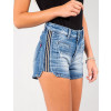 Shorts Jeans Atacado Curto Galão Lateral Feminino Revanche Milão Lateral