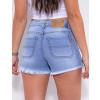 Shorts Jeans Atacado Feminino Revanche Abella Azul Costas Detalhe