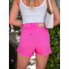 Shorts Jeans Atacado Feminino Revanche Cristal Rosa Costas