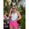 Shorts Jeans Atacado Feminino Revanche Cristal Rosa Detalhe Look
