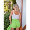 Shorts Jeans Atacado Feminino Revanche Cristal Verde Costas