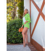 Shorts Jeans Atacado Feminino Revanche Cristal Verde Look