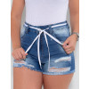 Shorts Jeans Atacado Feminino Revanche Faustine Azul Detalhe