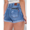 Shorts Jeans Atacado Feminino Revanche Francine Azul Detalhe Costas