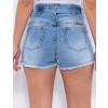 Shorts Jeans Atacado Feminino Revanche Joella Azul Detalhe Costas