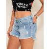 Shorts Jeans Atacado Feminino Revanche Tempeste azul lateral