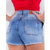 Shorts Jeans Atacado Feminino Revanche Trindade Azul Detalhe Costas