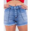 Shorts Jeans Atacado Feminino Revanche Trindade Azul Detalhe