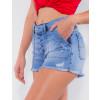 Shorts Jeans Atacado Feminino Revanche Trindade Azul Detalhe Lado