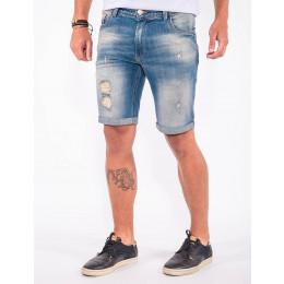 Bermuda Jeans Atacado Barra Dobrada Masculina Revanche Lomé Frente