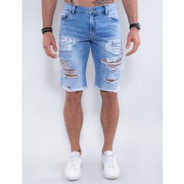 Bermuda Jeans Atacado Masculina Revanche Coréia do Sul Azul Frente