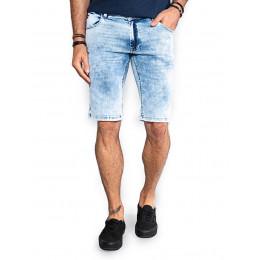 Bermuda Jeans Atacado Sky Bleach c/ Zíper Lat. Masculina Revanche Prato Frente