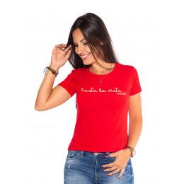 Blusa Atacado Estampa Feminina Revanche Hasta La Vista Vermelha Frente