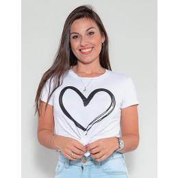 Blusa Atacado Feminina Revanche Coração Amarelo Frente