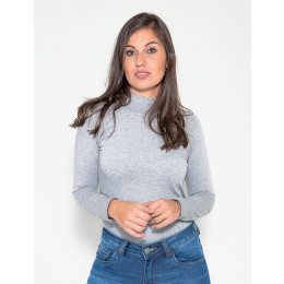 Blusa Atacado Manga Longa Com Abertura Nas Costas Feminino Revanche Helsink Preto Frente