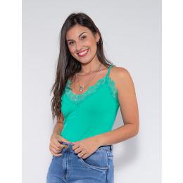Blusa de Alça Atacado Feminina Revanche Jeri Preto Frente