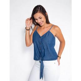 Blusa Jeans Atacado Frente de Amarrar Feminina Revanche Zagrebe Frente