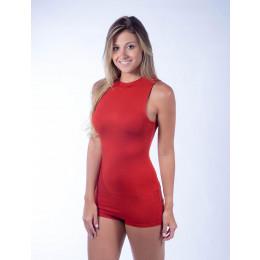 Body Atacado com Shorts e Ziper nas Costas Feminina Revanche Darcy Telha Frente
