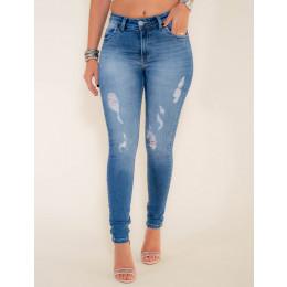Calça Jeans Atacado Cigarrete Destroyed Revanche Adis Frente